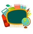 School supplies clip art objects vector image vector image