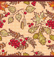 seamless pattern deciduous autumn leaf ornament vector image vector image