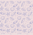 seamless pattern of seashells and starfishes vector image