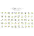SEO Line Icons 7 vector image vector image