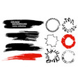set of hand drawn brushes and design elements vector image vector image