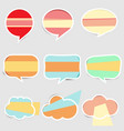 set of pastel colored paper speech vector image vector image