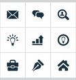 Set of simple job icons