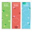 Set Of Three Colorful Hearts Vertical Banners vector image vector image