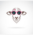 sheep wearing sunglasses on white background vector image vector image