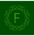 Simple Monogram F vector image vector image