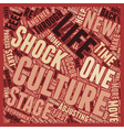 So what is culture shock text background wordcloud vector image vector image