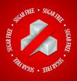 Sugar free symbol vector image
