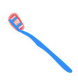 toothbrush with blood vector image vector image
