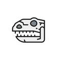 tyrannosaurus skull t-rex head dinosaur bones vector image vector image