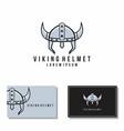 viking helmet graphic knight mascot logo vector image vector image