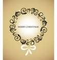 vintage christmas wreath with retro ornaments vector image vector image