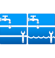 water icons with tap and wrench vector image vector image