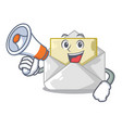 with megaphone opened and closed envelopes shaped vector image vector image