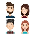 young people set avatars vector image vector image