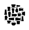 Coffee shop background vector image