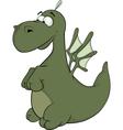 Little green dragon cartoon vector image