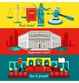 Concept High Court and Justice vector image