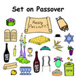 a set of graphic color elements for the pesach vector image
