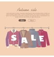 Autumn Sale Concept in Flat Design vector image vector image
