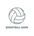 basketball game line icon basketball game vector image