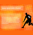 basketball player on abstract background vector image