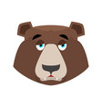 bear sad emoji grizzly melancholy emotion face vector image