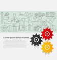 business set template with hand drawn vector image vector image