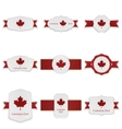 Canada Day festive Labels Set with Text vector image vector image