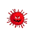 Cartoon virus character isolated vector image