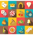 Casino icons set flat style vector image vector image