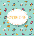 coffee times pattern background vector image vector image