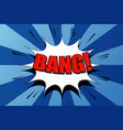 comic bang wording template vector image