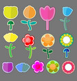 cute flowers icon vector image vector image