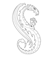 Decorative dragon vector image