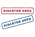 Disaster Area Rubber Stamps vector image vector image
