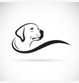 dog head designlabrador retriever on white vector image vector image