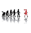 evoluting of dating vector image vector image