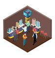 exhibition real estate apartments isometric vector image vector image