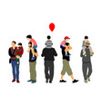 father and son fathers day set family people vector image vector image