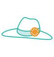 female beach hat icon vector image vector image