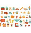 Food and cooking icons vector image vector image
