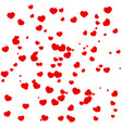 frame of red hearts on valentines day vector image vector image