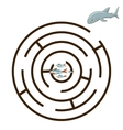Game labyrinth find a way shark vector image vector image