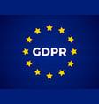 gdpr - general data protection regulation vector image vector image