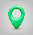 green map pin pointer modern design vector image vector image