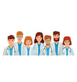 group doctors professional medical staff team vector image vector image