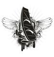 grunge summer emblem vector image vector image
