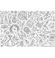 hand drawn motivation set doodle background vector image vector image