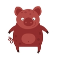 happy smiling little bacartoon pig animal farm vector image vector image